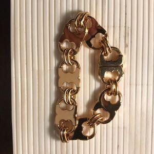 Never worn Tory Burch Gold Link Bracelet
